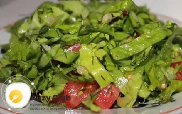советы по приготовению салата из зелени
