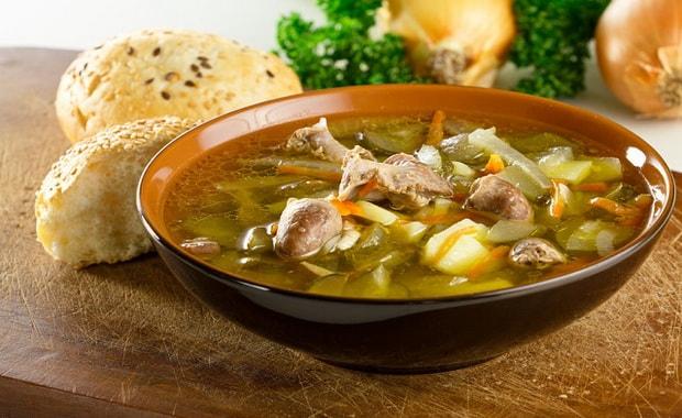 Как приготовить суп из куриных сердечек и желудков по пошаговому рецепту с фото