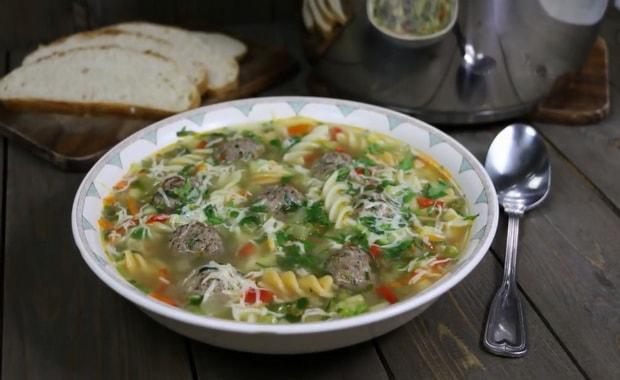 Как сварить суп с фрикадельками и вермишелью по пошаговому рецепту с фото