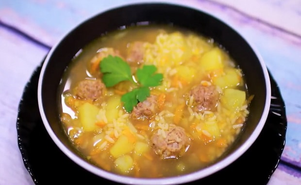 Как сварить суп с фрикадельками и рисом по пошаговому рецепту с фото
