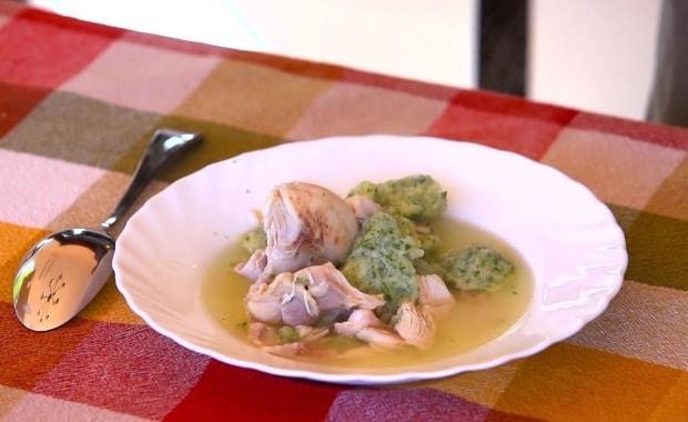 Пошаговый рецепт приготовления супа с клецками