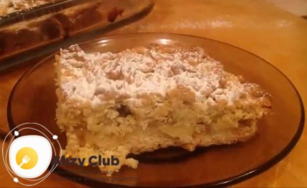 тертый пирог с яблоками советы
