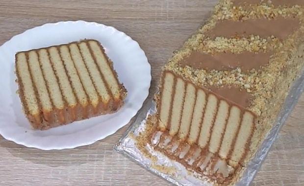 Пошаговый рецепт торта из печенья без выпечки с фото