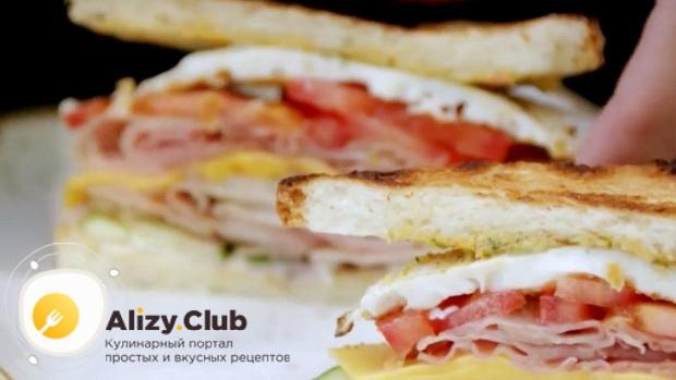 Для приготовления сендвичей, подготовьте все необходимое