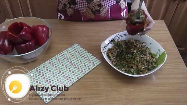 перец фаршированный овощами с капустой быстрый рецепт