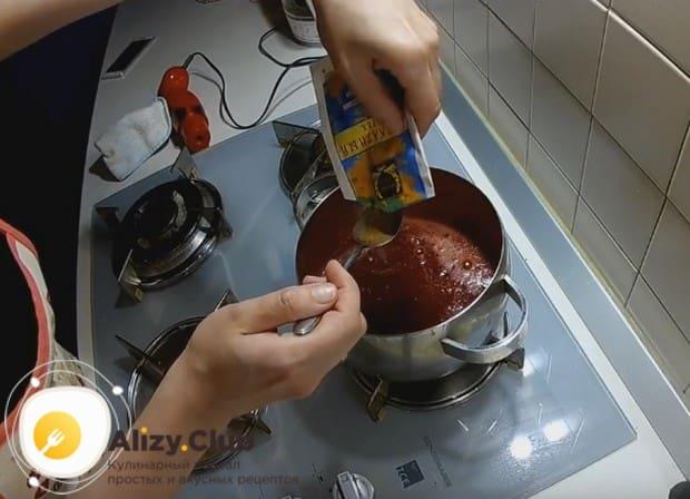 Добавляем пол чайной ложки мускатного ореха.