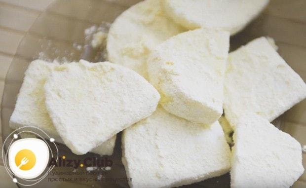 Вот так должны выглядеть кусочки сыра после такой обработки.