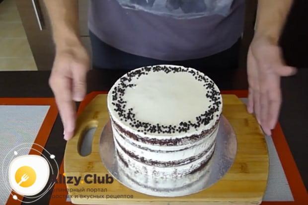 Классический черемуховый торт со сметаной готов!