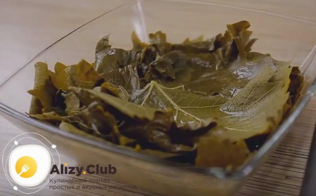 Посмотрите также у нас на видео рецепт приготовления долмы в виноградных листьях в мультиварке.
