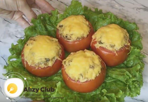 Фаршированные помидоры с сыром и чесноком по этому рецепту получаются очень ароматными!