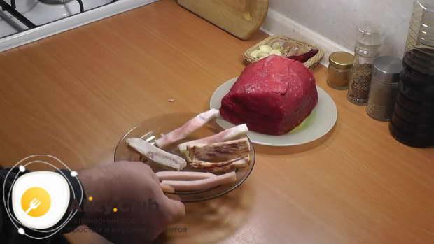 говядина запеченная в духовке в фольге куском рецепт