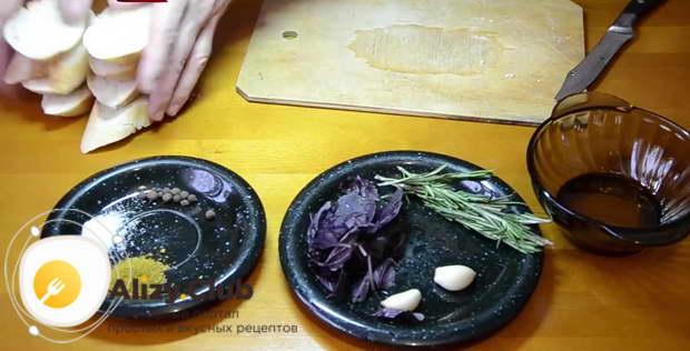 чесночные гренки в духовке рецепт