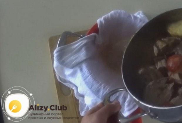 Очень важно процедить готовый бульон.