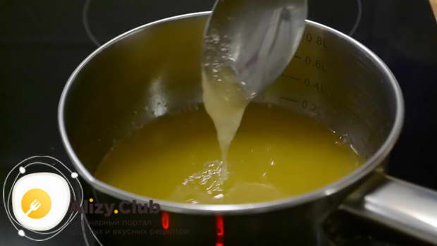 Добавляем набухший желатин