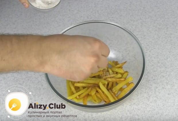 Теперь вы знаете, как дома сделать картошку фри без фритюрницы.