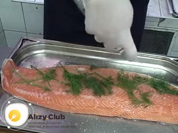 Смотрите как вкусно засолить красную рыбу
