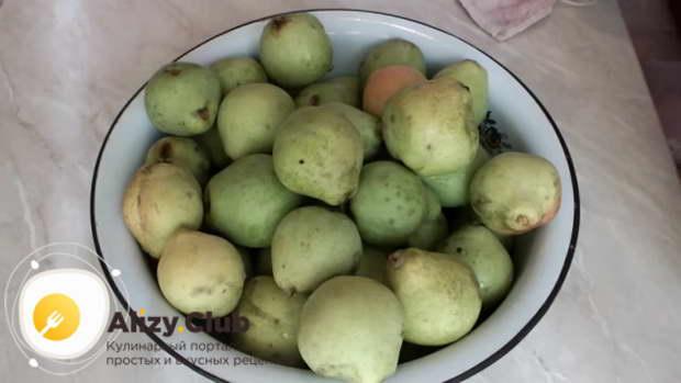 грушевый компот на зиму