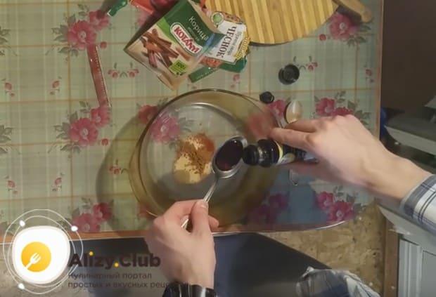 В маринаде используем также соевый соус.