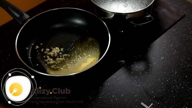 креветки со сливками и макаронами