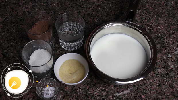 Молочно-Шоколадное желе