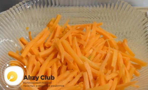 если хотите приготовить вкусную корейскую морковь с грибами, посмотрите ее рецепту нас также на видео.