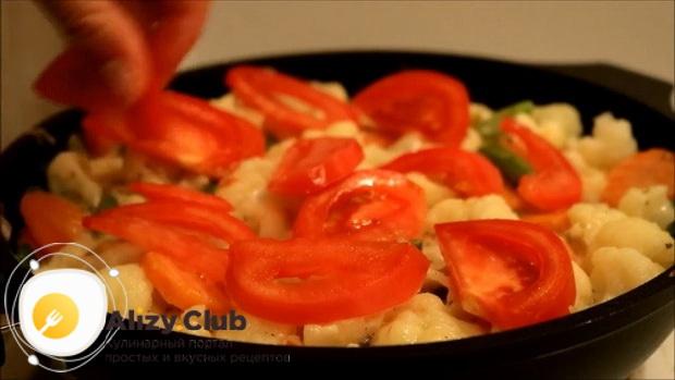 Запеките омлет с цветной капустой в духовке