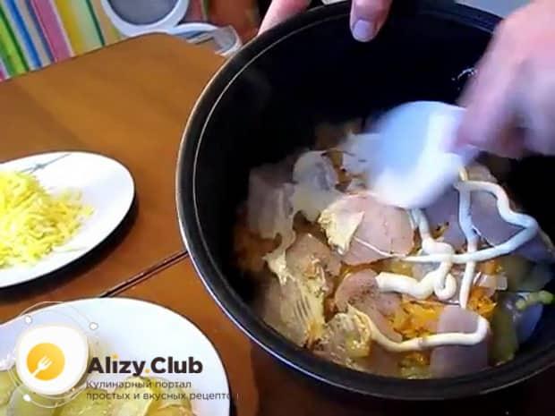 Приготовьте все ингредиенты перед тем как приготовить филе пангасиуса в мультиварке