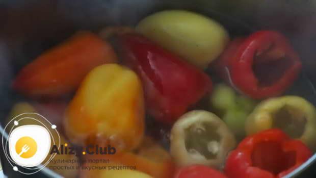 рецепт перца фаршированного морковью на зиму