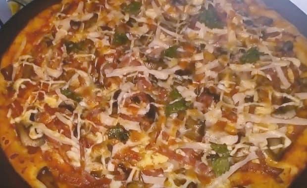 Рецепт пиццы с шампиньонами в домашних условиях