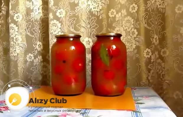 Вкуснейшие помидоры в яблочном соке готовы