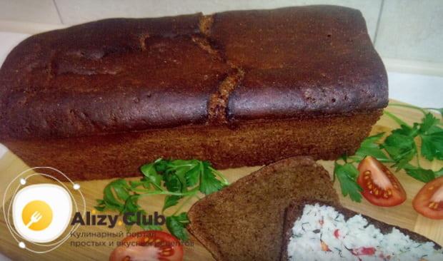 рецепт приготовления черного хлеба в духовке с фото и видео инструкциями