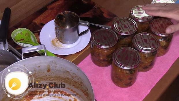 Баклажаны в томатном соусе с чесноком готовы