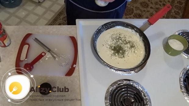 Смотрите простой рецепт приготовления  белого соуса к мясу