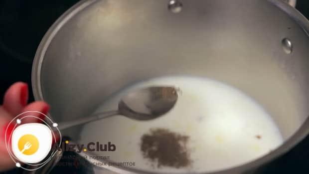 По рецепту для приготовления чая масла, добавьте специи