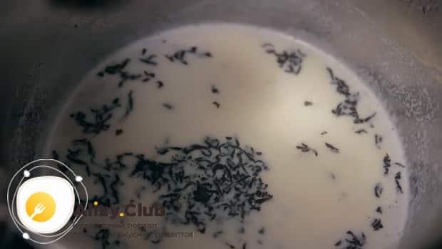 По рецепту для приготовления чая масла, добавьте чай