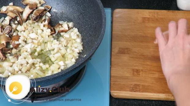 Готовим макароны с белыми грибами