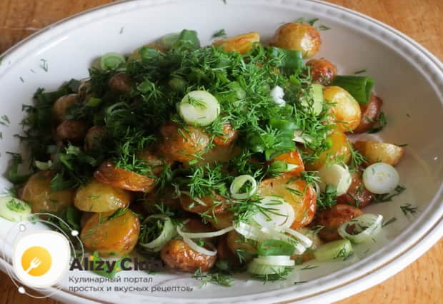 Жареная картошка готова.