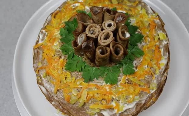 Как приготовить печеночный торт по пошаговому рецепту с фото