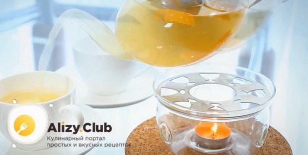 По рецепту для приготовления имбирного чая с лимоном и медом. подготовьте необходимые ингредиенты