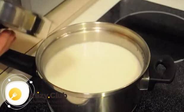 Смотрите как приготовить молочный суп с макаронами