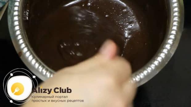 Для приготовления торта пища богов приготовьте глазурь