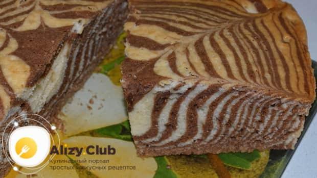 Вкуснейший торт зебра на кефире готов