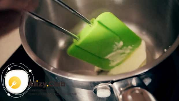 Для приготовления торта черный принц, растопите масло