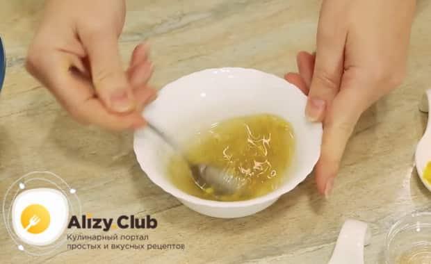 Для приготовления винегрета с селедкой, приготовьте заливку