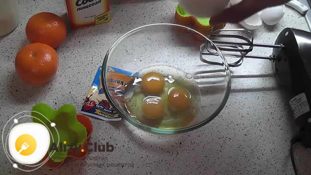 шарлотка с яблоками и мандаринами