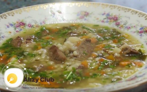 Наш рецепт с фото поможет вам пошагово приготовить такой вкусный и сытный перловый суп.