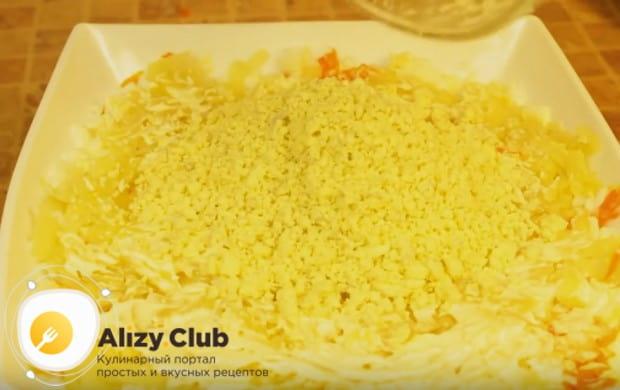Приготовьте салат Мимоза с рыбной консервой по классическому рецепту с фото.
