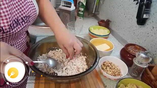 салат курица с ананасами и шампиньонами рецепт