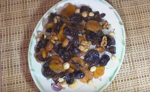 Как приготовить сладкий плов с сухофруктами по пошаговому рецепту с фото