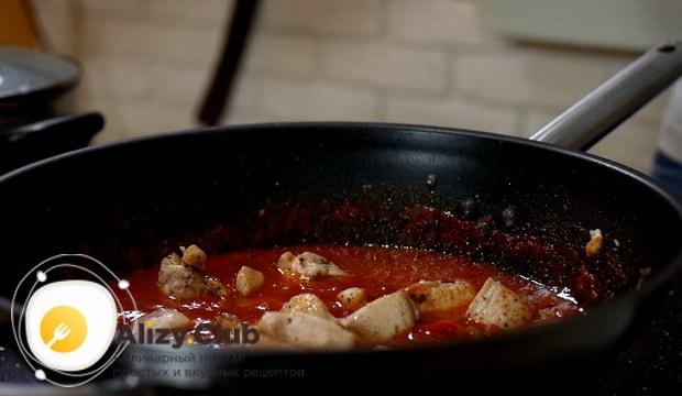 Как приготовить спагетти с курицей и овощами в домашних условиях